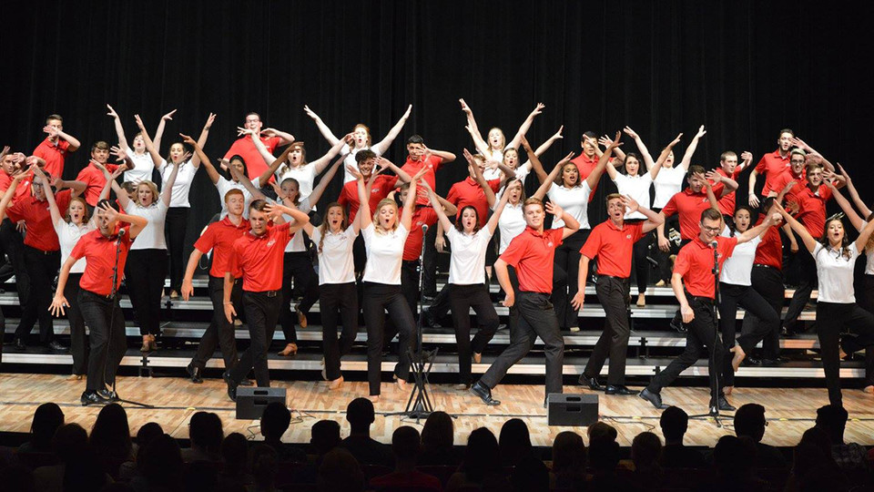 The Big Red Singers perform during the 2016-17 season. The new season opens Aug. 19 with a free, open-to-the-public performance.