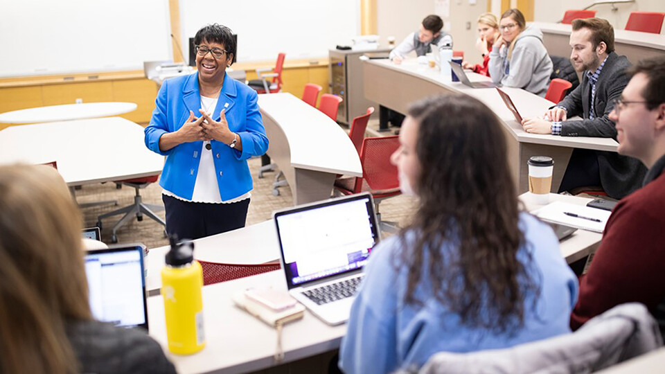 The new business and law major at Nebraska offers students an interdisciplinary education in which they gain foundational legal knowledge to better solve business challenges. Graduates will be prepared to fill roles in multiple growing fields requiring some legal knowledge but not a juris doctorate.