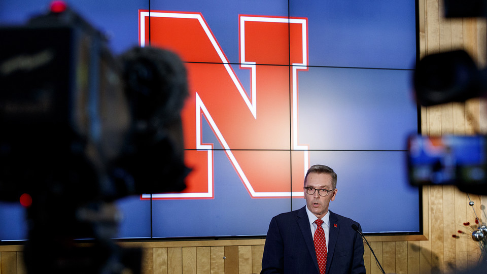 Chancellor Ronnie Green announces that Nebraska has started a search for a new director of athletics on Sept. 21.
