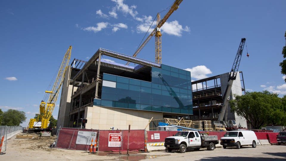 Construction of UNL's new $84 million College of Business Administration building continues this summer. The 240,000-square-foot structure is scheduled to open for the 2017-2018 academic year.