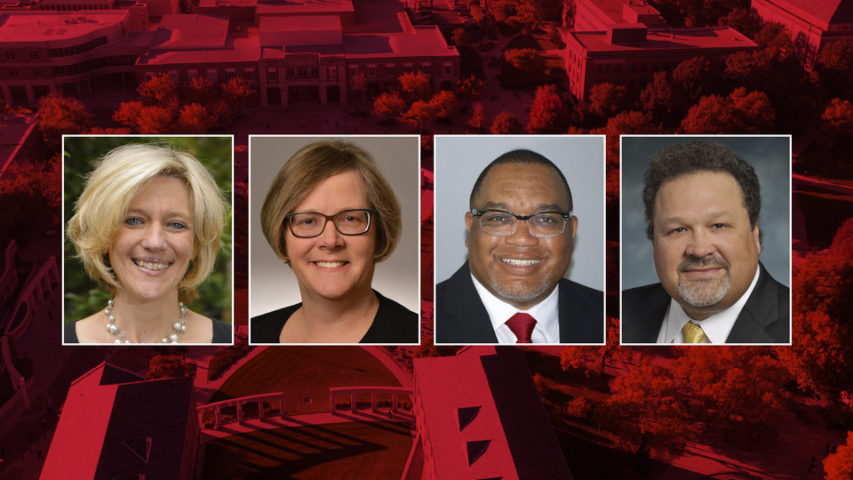 Finalists vying to be Nebraska's next dean of the College of Education and Human Sciences are (from left) Amy Bonomi, Sherri Jones, Donald Easton-Brooks and Rick Kreider.