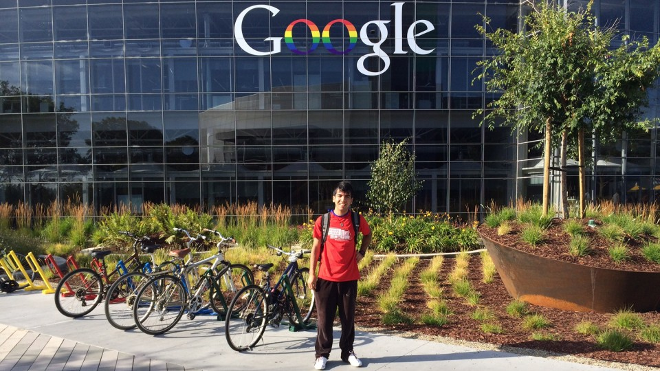 Heitor Castro, a sophomore computer engineering major, attended Google's annual Scholar's Retreat in June. He is UNL's first Generation Google Scholar.