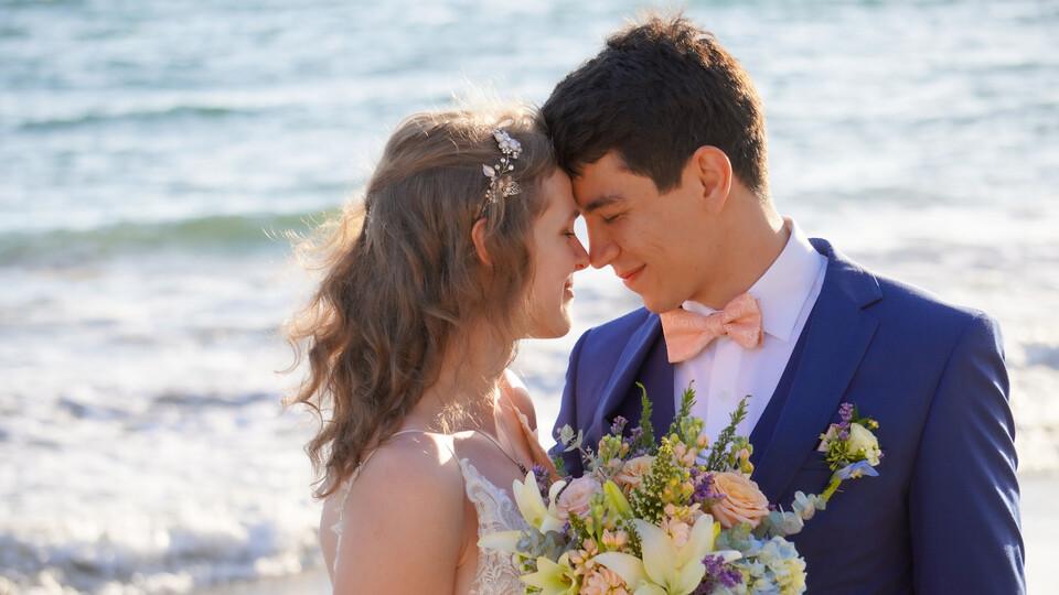 Courtney and Nurik wedding photo