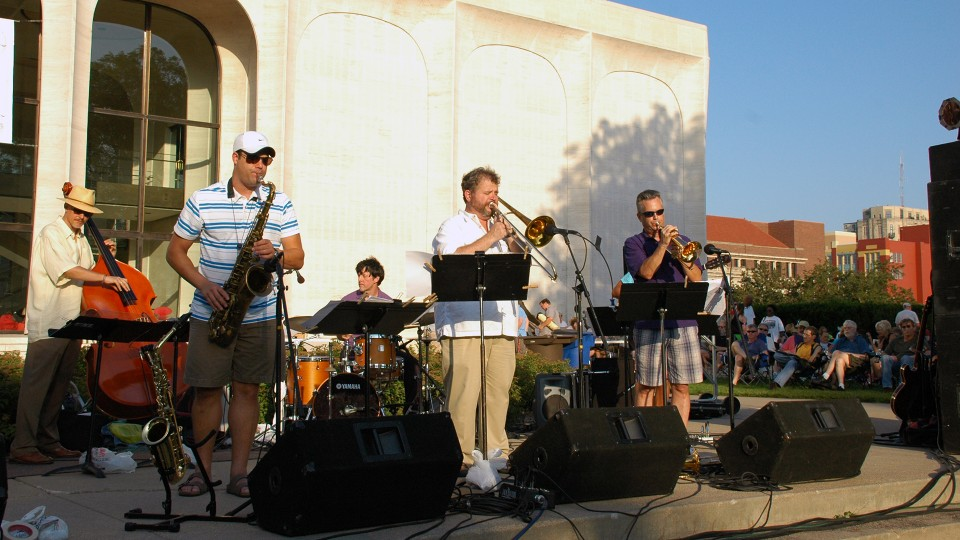 The Darryl White Group performs during Jazz in June at the University of Nebraska–Lincoln.