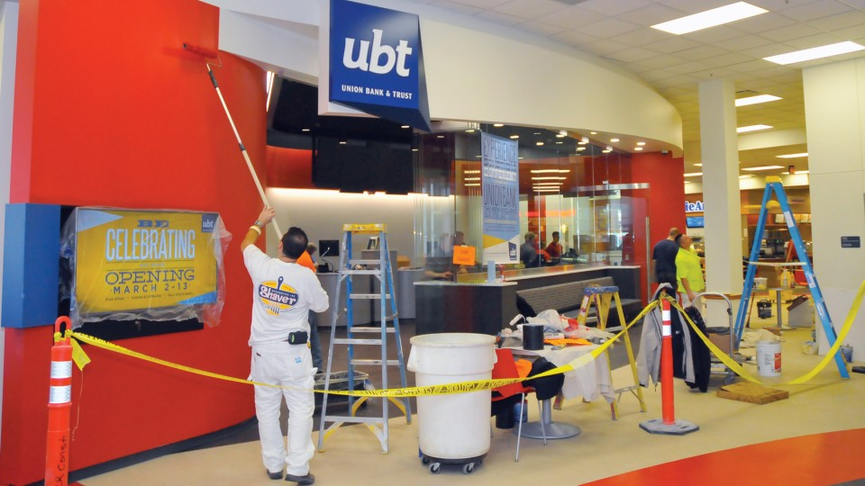The new Union Bank location in the Nebraska Union opens March 2. Union Bank replaces Wells Fargo as the exclusive bank on UNL's City and East campuses.