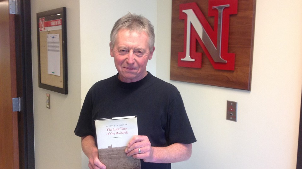 """David Wishart, professor of geography, has received a 2014 Nebraska Book Award in the non-fiction (history) category for his book """"The Last Days of the Rainbelt."""" The awards are presented by the Nebraska Center for the Book."""