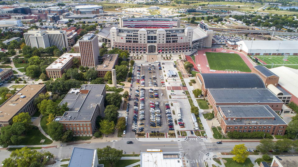 East Stadium drone shot