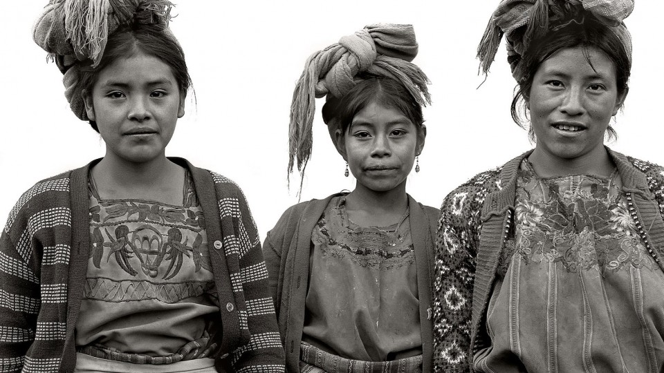 """Hermanas, San Mateo Ixtatan,"" a photo featured in the Sheldon exhibition ""Daniel Chauche: Visions of the Future Past of Guatemala."" The Sheldon's First Friday event will focus on Chauche's exhibit."