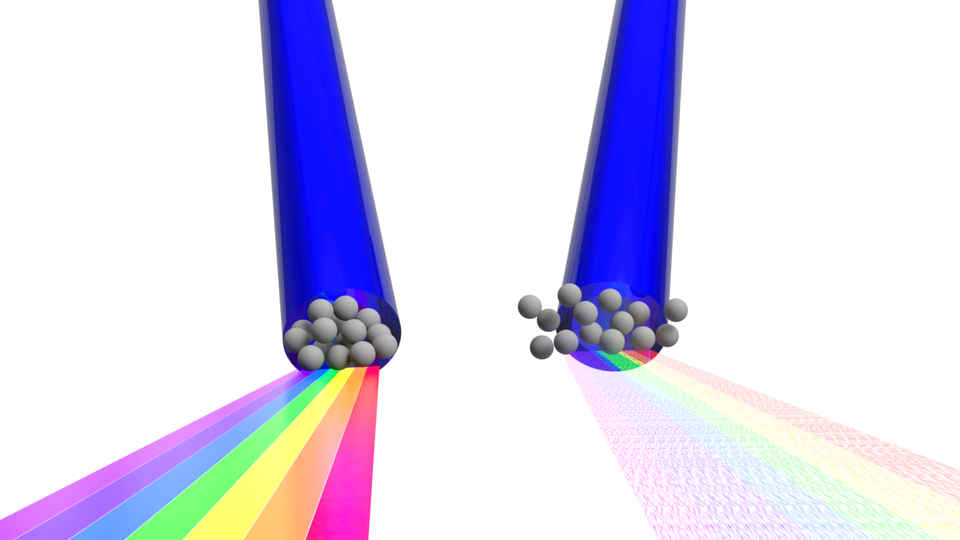 A rendering of tightly bunched electrons