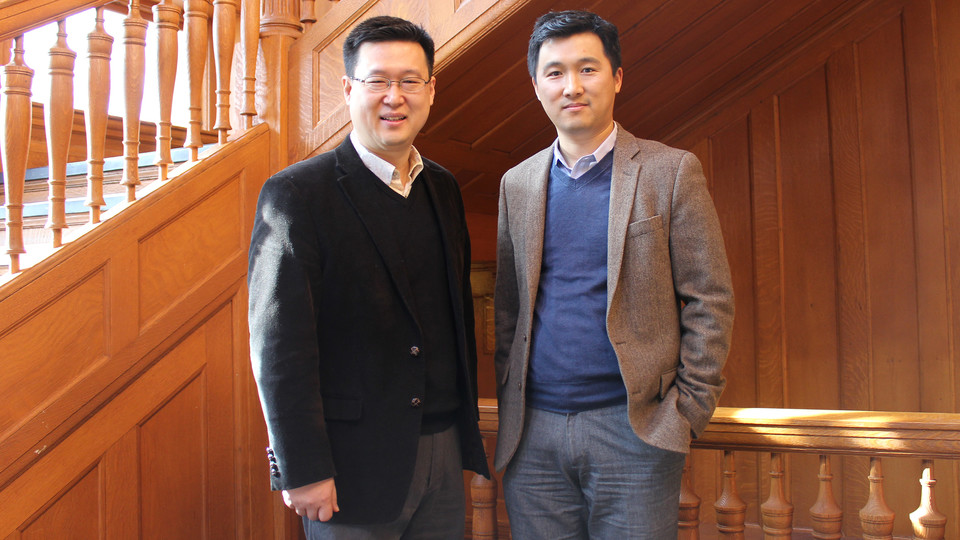 Nebraska researchers Yunwoo Nam and Changbum Ahn have received a National Science Foundation grant to study walking paths in Lincoln.