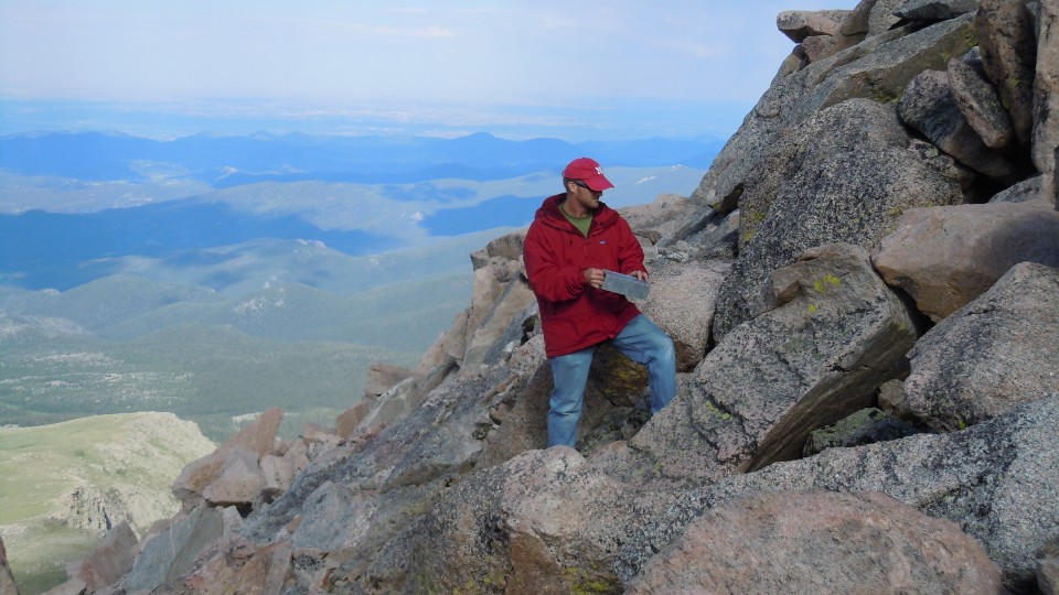 Jay Storz on Mt. Evans in Colorado, June 2010.
