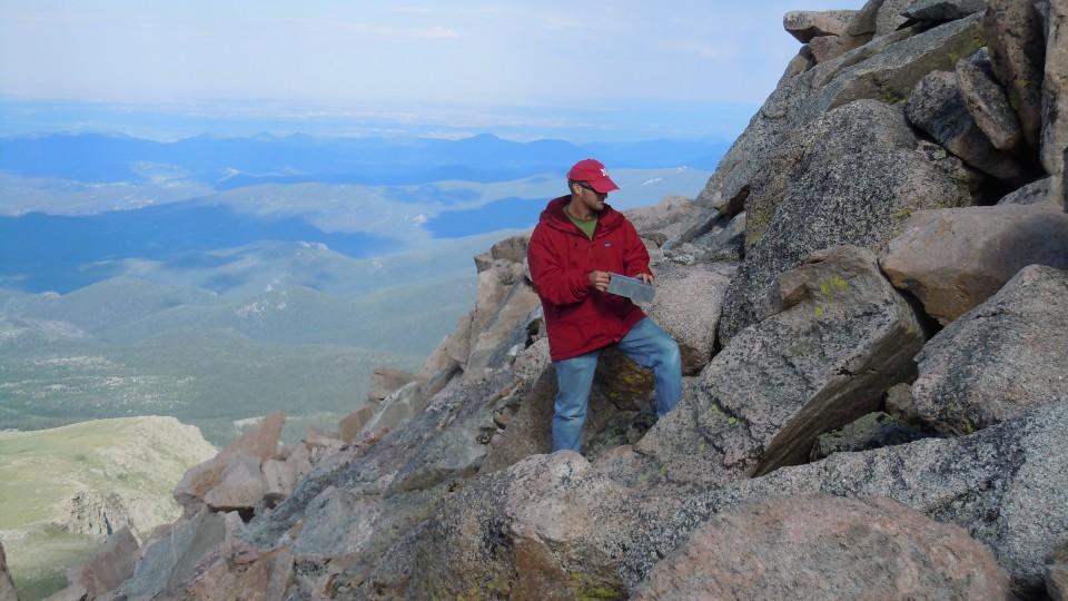 Jay Storz on Mt. Evans in Colorado, June 2010.