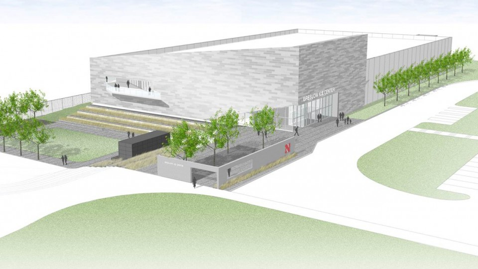 A groundbreaking ceremony for the John Breslow Ice Hockey Center will be 11 a.m. Dec. 13.