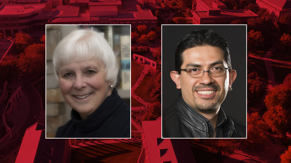 Nebraska's Marjorie Kostelnik (left) and Rodrigo Franco Cruz have been named faculty ombuds.