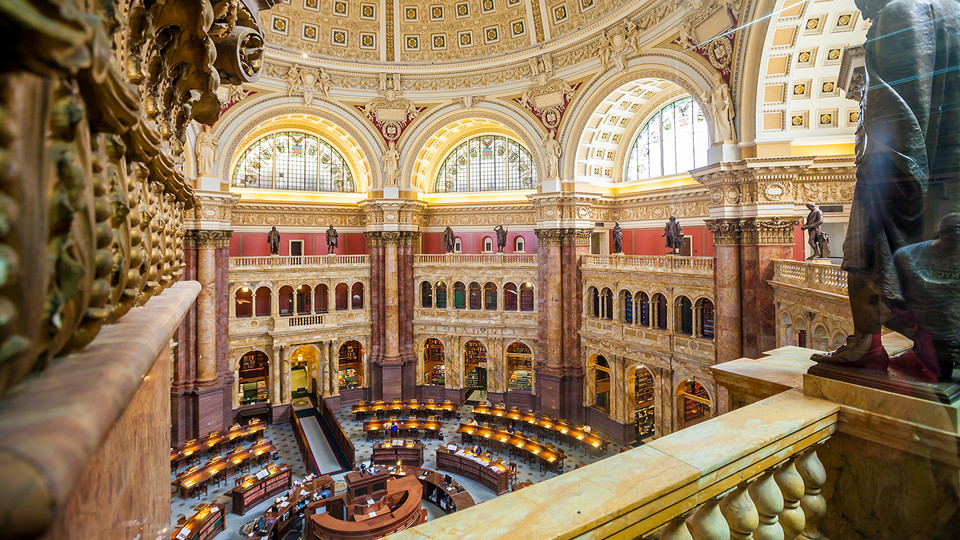 Interior of the Library of Congress in Washington, D.C.