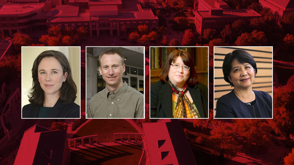 Finalists vying to be Nebraska's next dean of university libraries are (from left) Claire Stewart, Bryn Geffert, Rebecca Bichel and Adriene Lim.