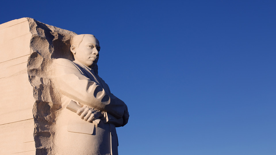 Sculpture of Martin Luther King Jr. at the MLK Memorial in Washington, D.C.