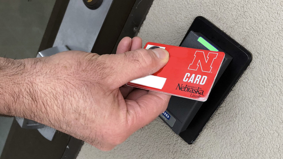 Starting at 7 a.m. March 20, faculty and staff must use an NCard to gain access to the university's academic buildings. The shift is in response to reduced campus activity related to COVID-19.
