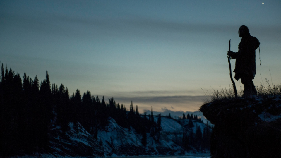"Scene from ""The Revenant,"" a new film starring Leonardo DiCaprio. The subject of the film, Hugh Glass, is also featured in the University of Nebraska Press book ""Lord Grizzly."""