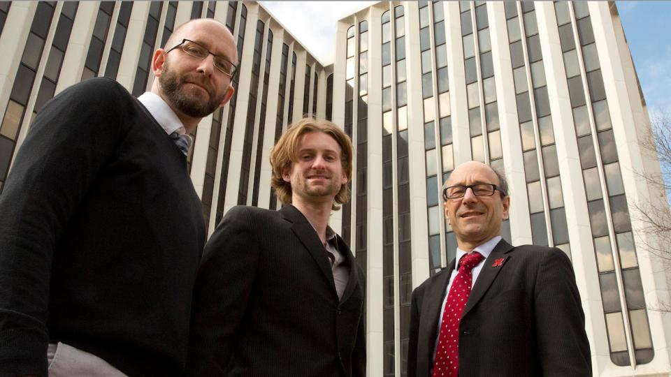 From left, Christopher McCune, Matthew Beio and David Berkowitz.