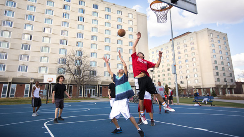 14th and Avery street courts, located south of the Harper-Schramm-Smith Residence Hall Complex.