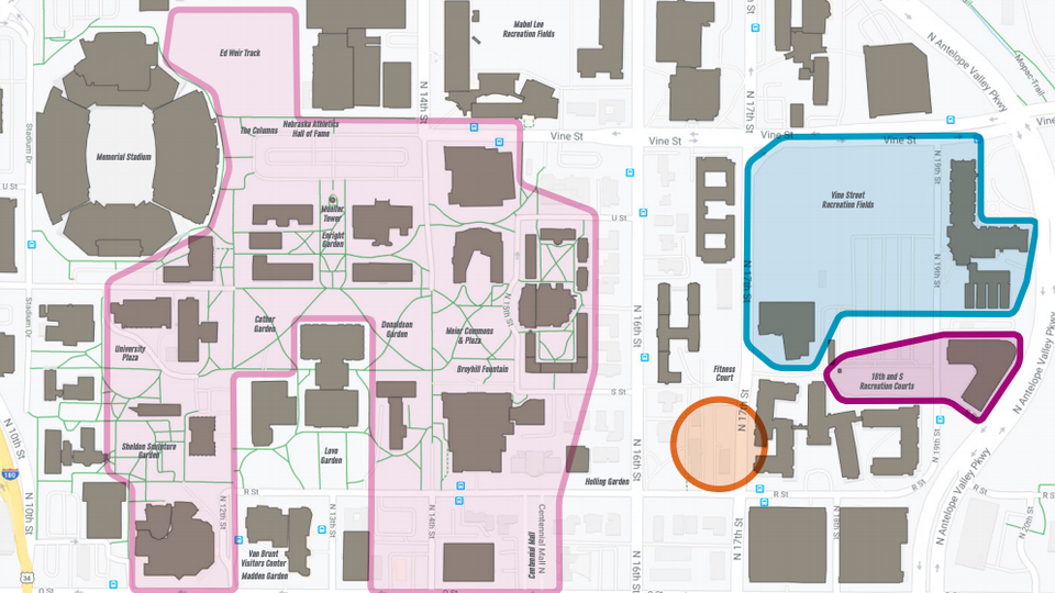 The university has created maps for City (pictured) and East campuses, showing zones that offer spillover Wi-Fi access.