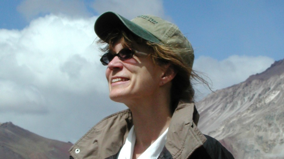 Sherilyn Fritz, pictured here at Aconcagua in South America, will will co-direct an international organization that helps study Earth's past to inform the management of its future.