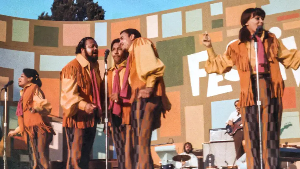 """The Fifth Dimension performs during the Harlem Cultural Festival in 1969. The largely-forgotten festival is featured in """"Summer of Soul,"""" a documentary opening July 2 at the Ross."""