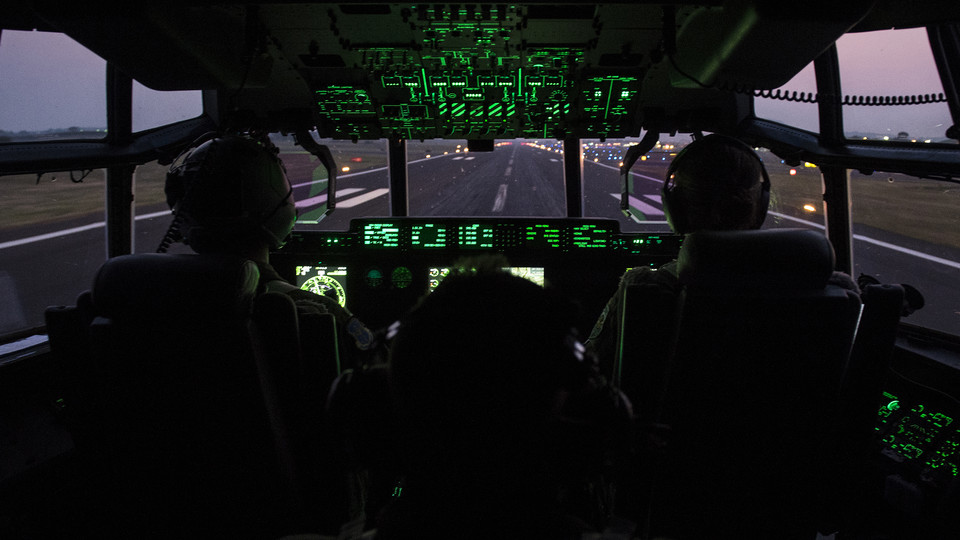 A United States Air Force crew prepares a C-130J Super Hercules for flight. Nebraska will host a two-day USAF listening session on March 22-23.