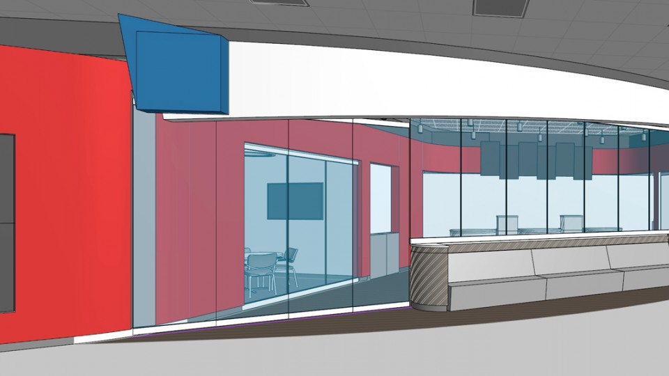 Proposed design for the new Union Bank and Trust branch in the Nebraska Union. The branch will open in March on the north side of the Nebraska Union.