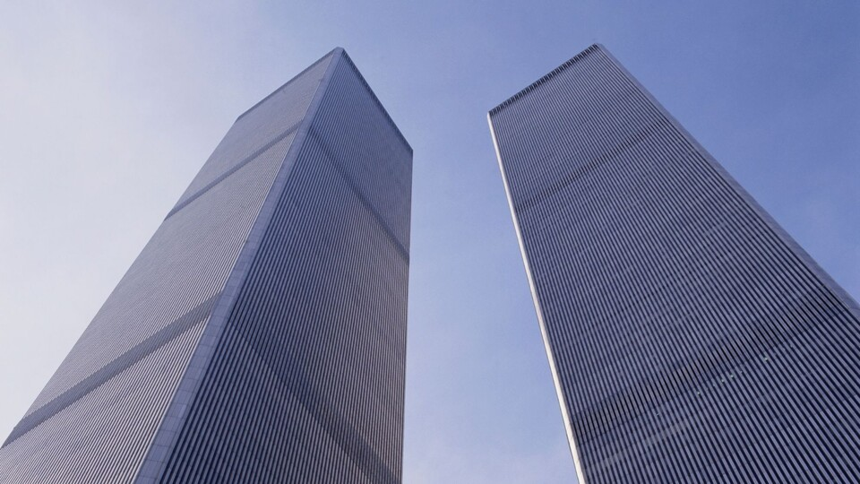 The Twin Towers against the sky