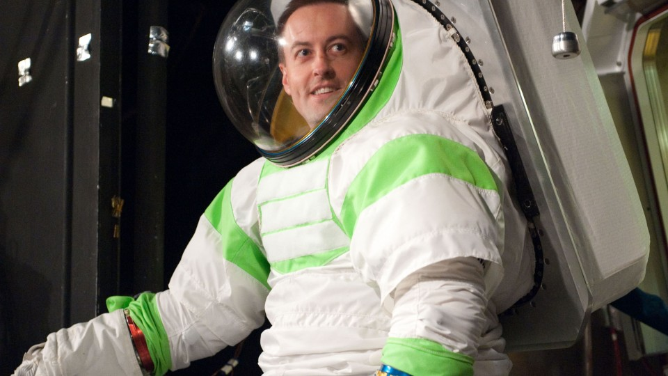 UNL alumnus Dana Valish serves as a test subject in NASA's Z-1 spacesuit testing at the Johnson Space Center in Houston, Texas. He is part of a team developing the Z-2, NASA's newest prototype spacesuit.