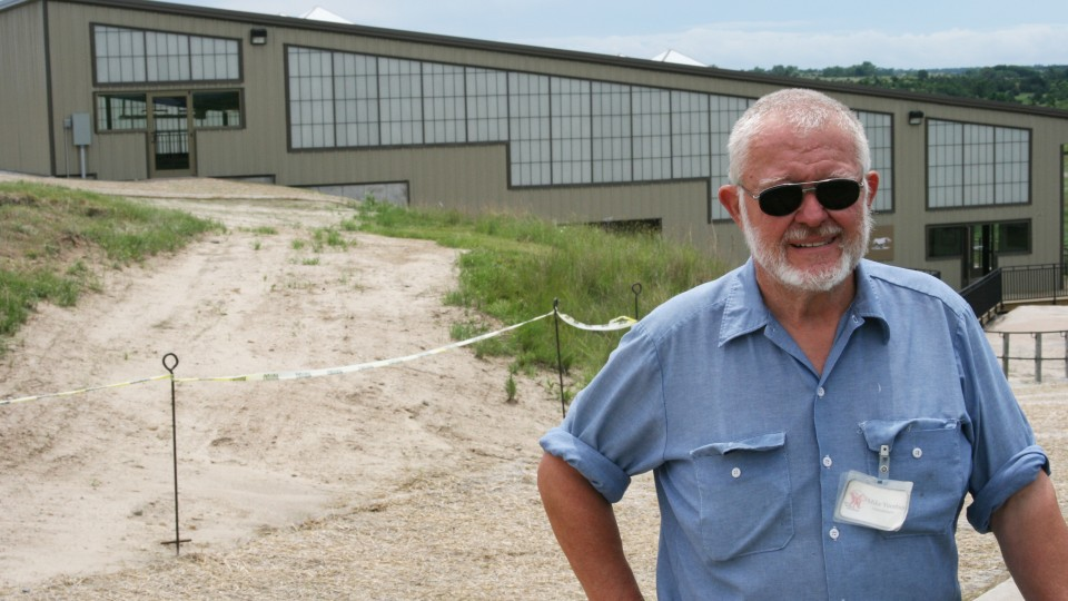 Mike Voorhies, emeritus professor, received the Henry Fonda Award from the Nebraska Tourism Commission for his discovery of and work at Ashfall State Fossil Beds.