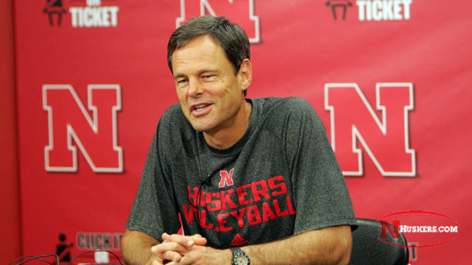 John Cook, head coach of Huskers volleyball