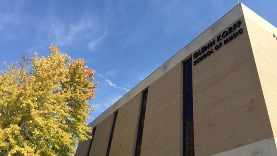Westbrook Music Building, home to Nebraska's Glenn Korff School of Music.