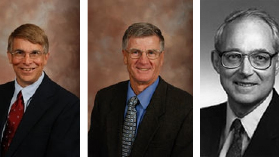 From left: Brink, Johnson, Van Vleck