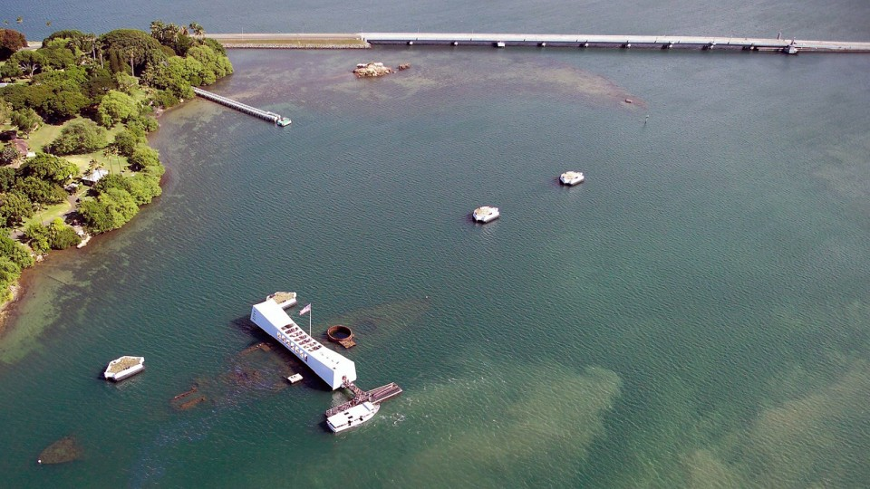 In 1962, a memorial was built over the sunken wreckage of the USS Arizona. Since 1998, a Nebraska research team has been studying the effects of corrosion on the sunken battleship.