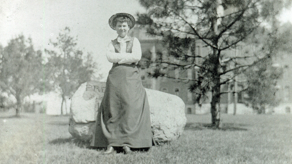 From the founding of the institution, Willa Cather's time on campus (pictured), and more recent moments, a new online timeline is offering an interactive tour through the history of the University of Nebraska.