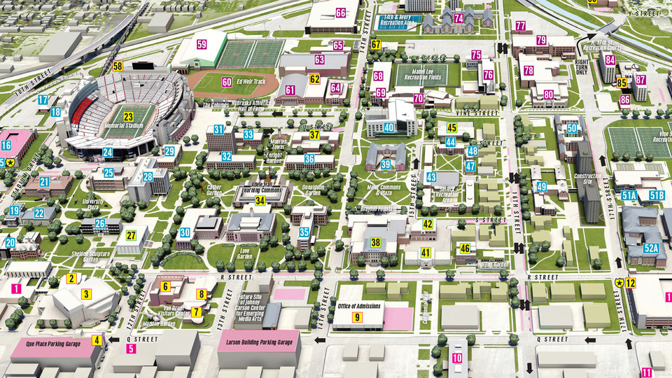New Copies Of Campus Maps Available Nebraska Today University Of