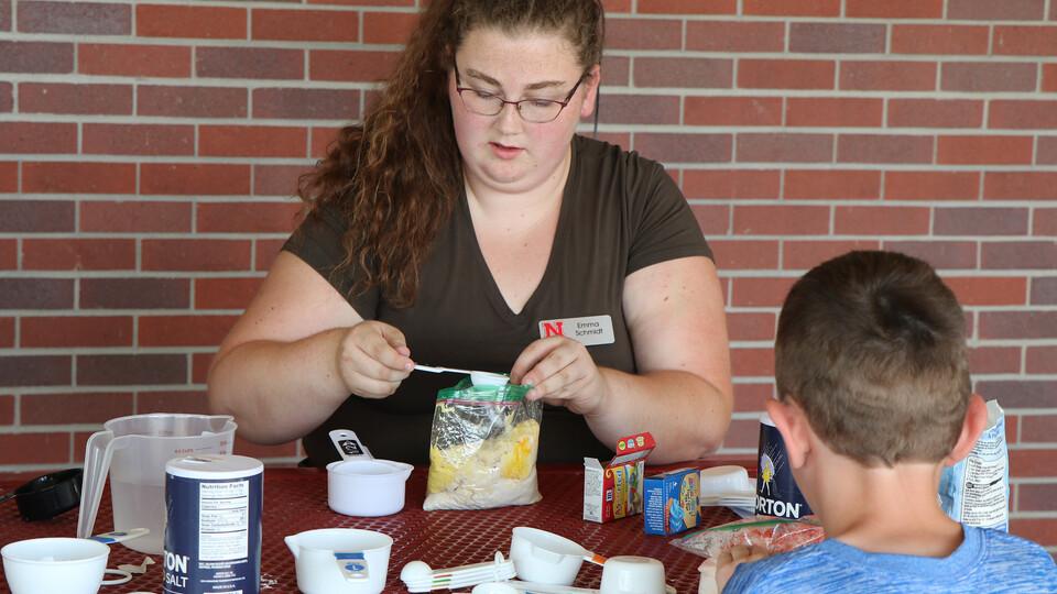 Emma Schmidt leads a mindfulness workshop for 4-H Clover Kids.