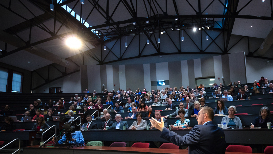Ronnie Green speaks to university leaders during a town hall in October. On April 6, Green will be officially installed as Nebraska's 20th chancellor.
