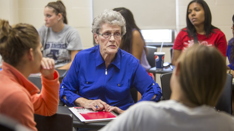 """Eleanor """"Jean"""" Kops, 85, is a junior at UNL this fall."""