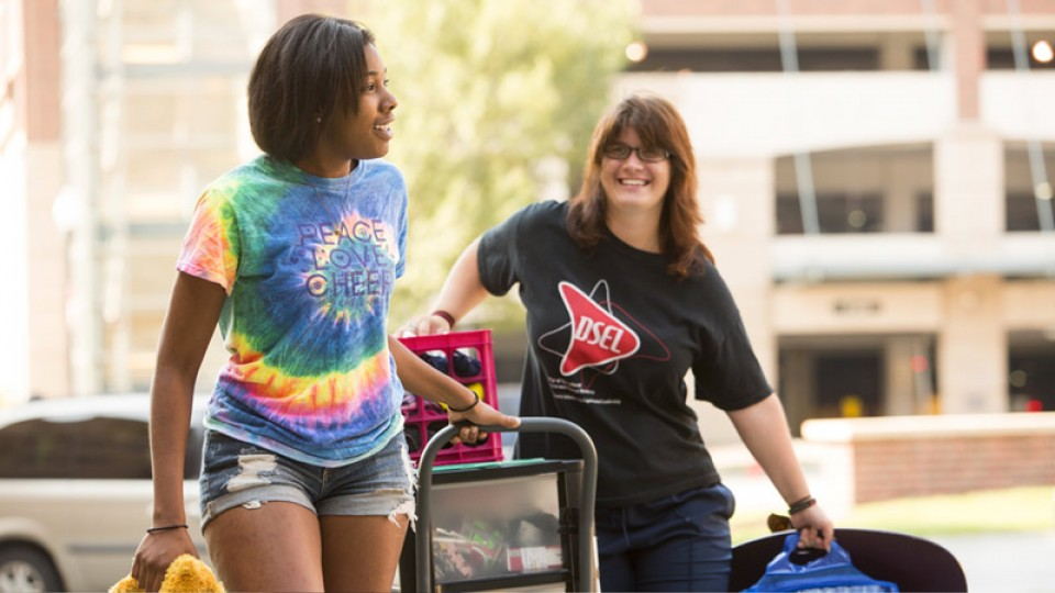 Most students living on campus will move in on Aug. 21 and 22.