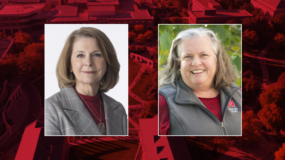 Concetta DiRusso (left) and Deb Hamernik have been named finalists to serve as the university's next associate vice chancellor for research.