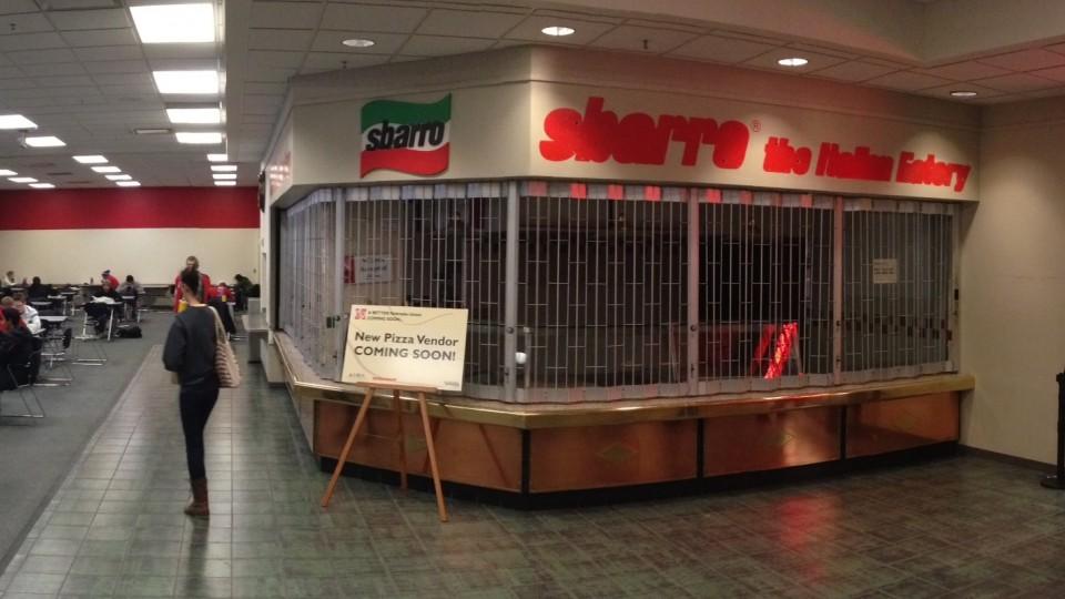 Subway Pizza Express will occupy the vacant Italian/pizza vendor area, formerly the Sbarro location.