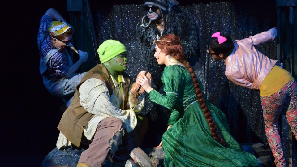 "Students perform ""Shrek"" during a previous Thespian Festival at UNL. The program is celebrating its 20th year on campus."