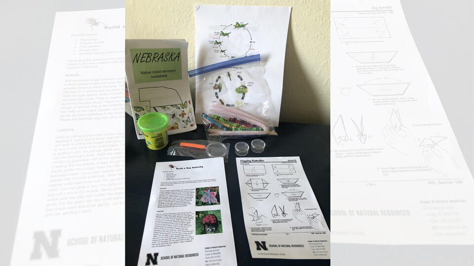 Environmental education and interpretation students Ann Spilker and Taryn Hohenbary created a set of STEAM Sacks for fourth- through sixth-grade students that feature activities centered around Nebraska's native insects.