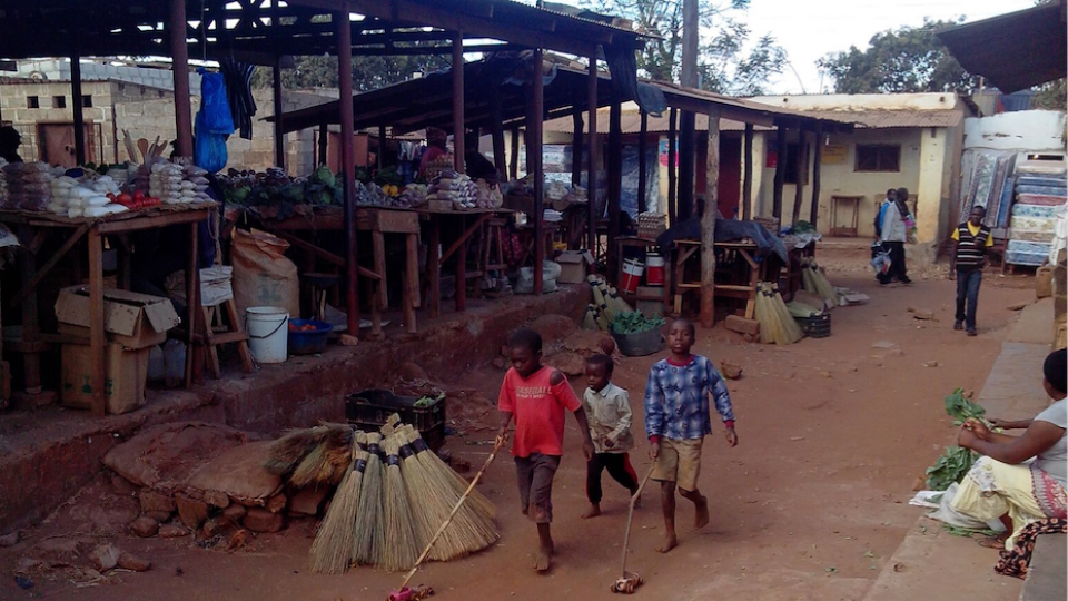 Zambian youths spend time in the streets of Lusaka, Zambia, in 2014.