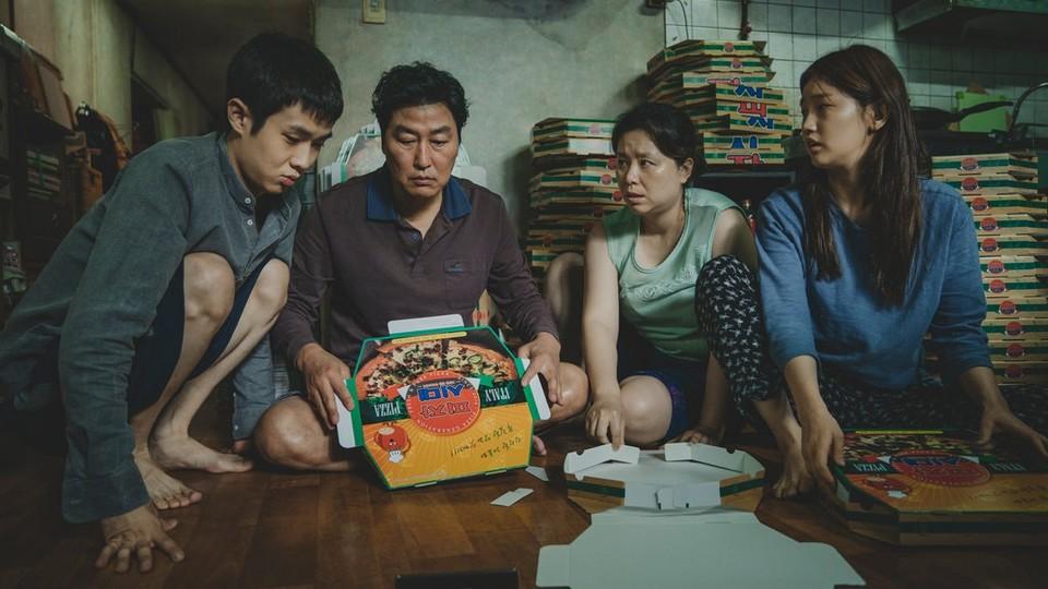 """The Park family in Academy Award winner """"Parasite."""""""