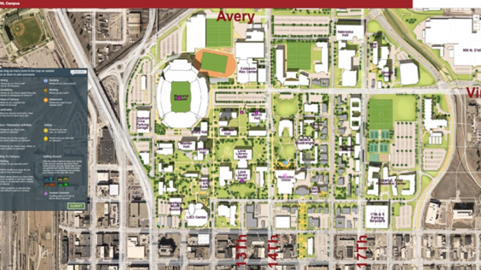 university of nebraska lincoln map Online Map Entries To Help Shape Campus Master Plans Next university of nebraska lincoln map